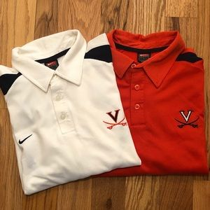 Two University of Virginia Nike Polos
